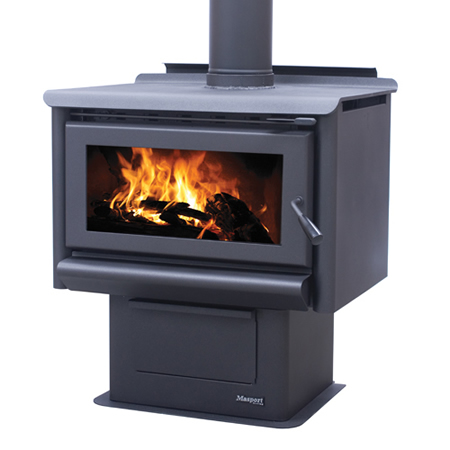 Masport Freestanding Wood Burner R5000 Pedestal At Heating Marlborough NZ