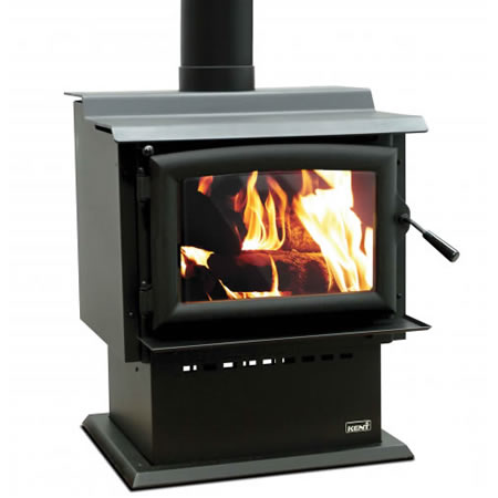 Kent Freestanding Wood Fire Barker II With Wetback At Heating Marlborough NZ